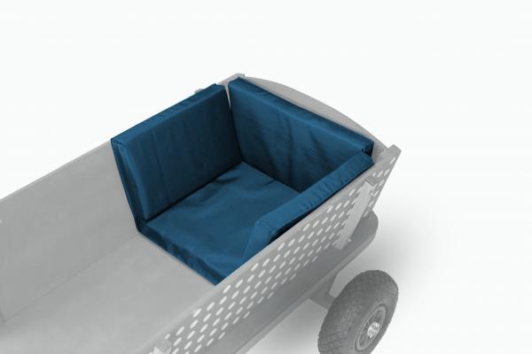 Sitzkissen für Beachtrekker Style, Blau (geeignet für div. andere Holzbollerwagen)